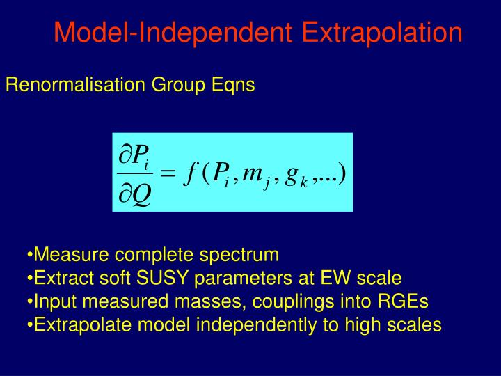 Model-Independent Extrapolation
