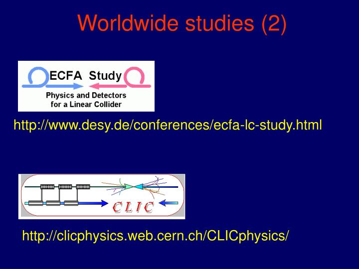 Worldwide studies (2)