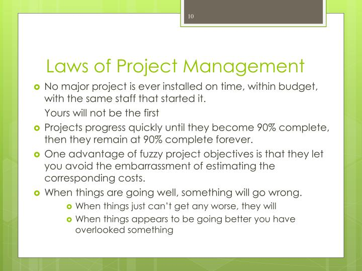 Laws of Project Management