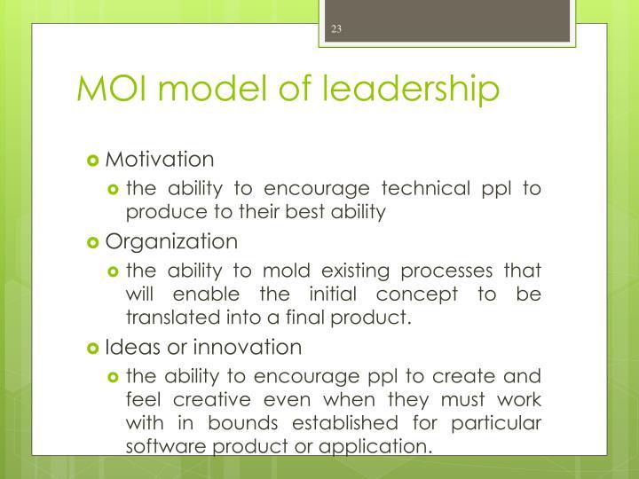 MOI model of leadership