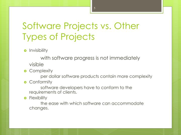 Software Projects vs. Other Types of Projects