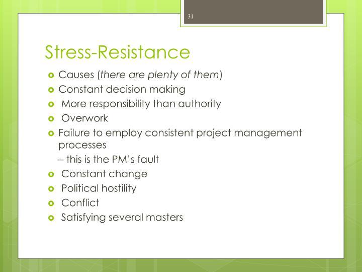 Stress-Resistance