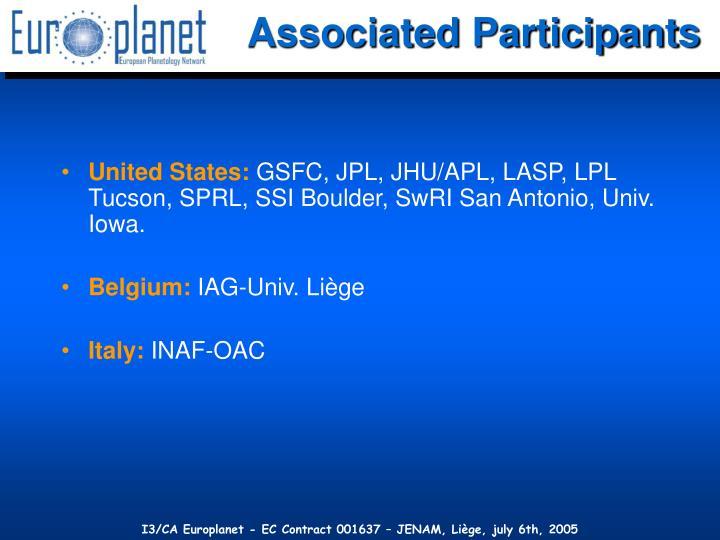Associated Participants