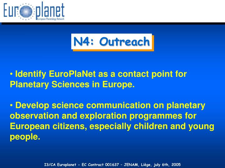N4: Outreach