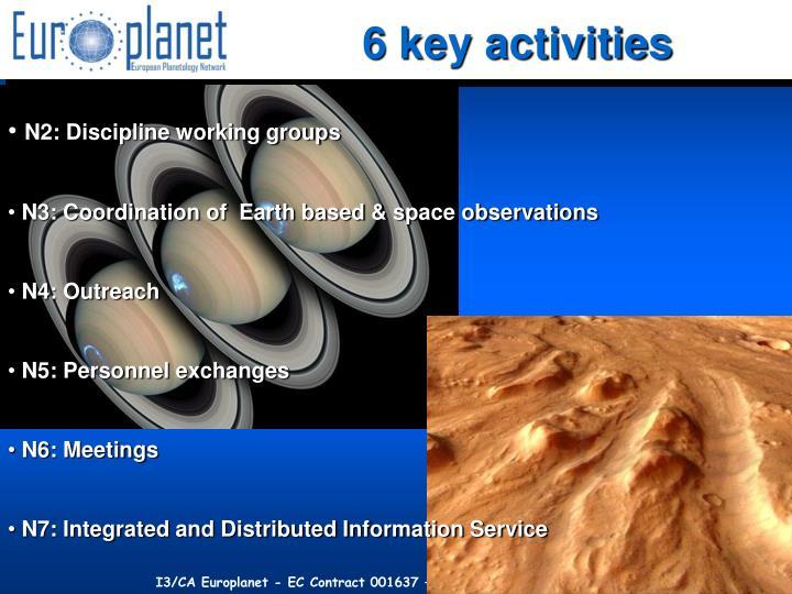 6 key activities