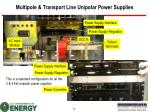 multipole transport line unipolar power supplies1