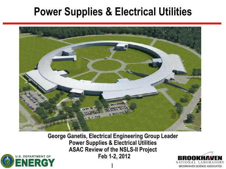 Power supplies electrical utilities