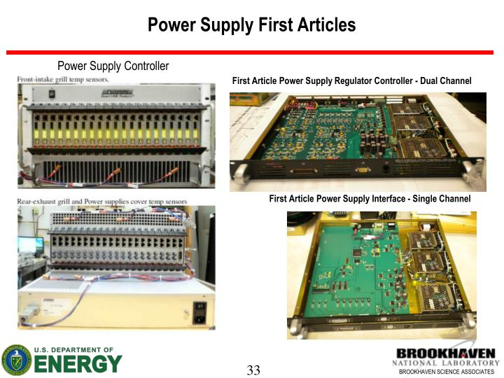 Power Supply First Articles