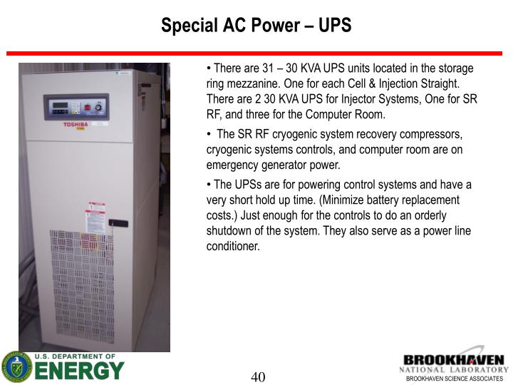 Special AC Power – UPS