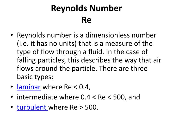 Reynolds Number
