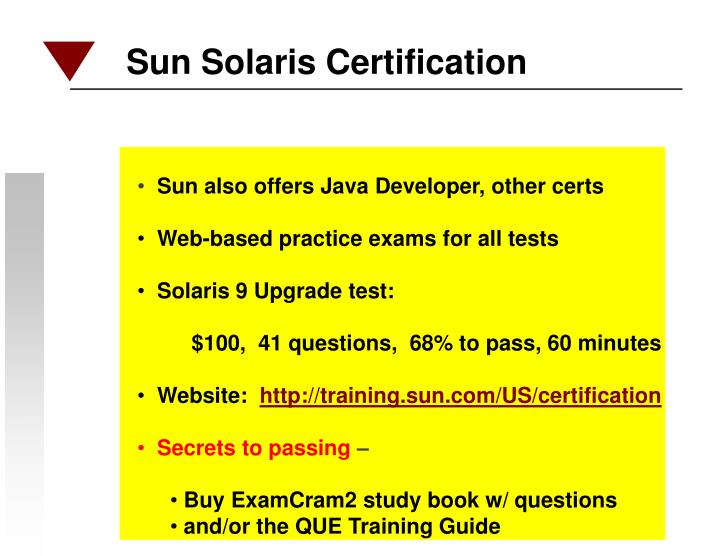 Sun Solaris Certification