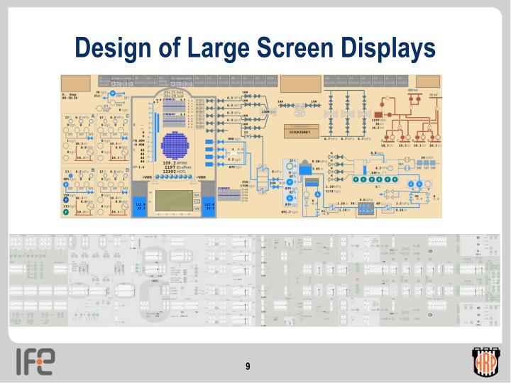 Design of Large Screen Displays
