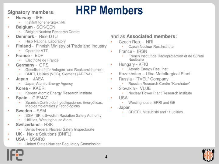 HRP Members