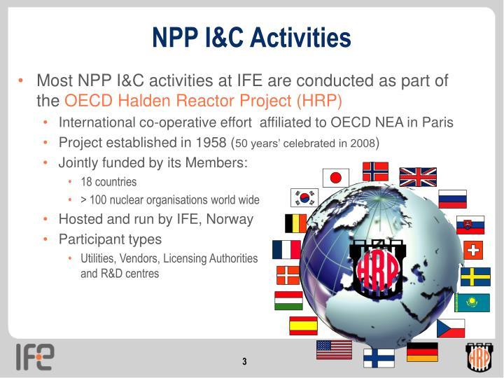 NPP I&C Activities