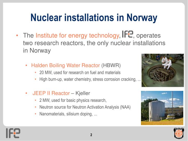 Nuclear installations in Norway