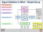 signal validation in m mir simple set up