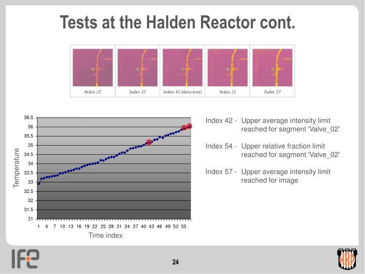Tests at the Halden Reactor cont.