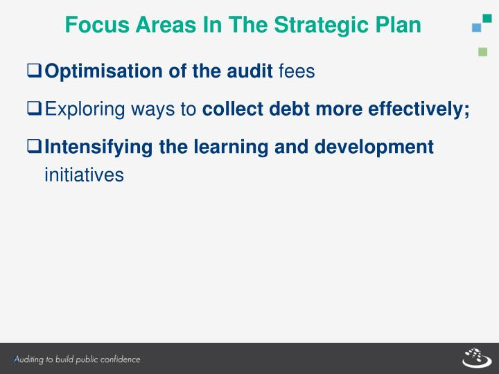 Focus Areas In The Strategic Plan