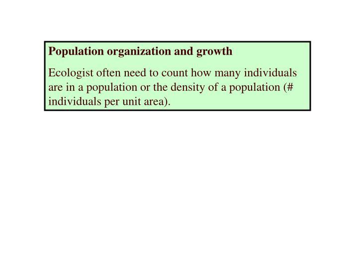 Population organization and growth