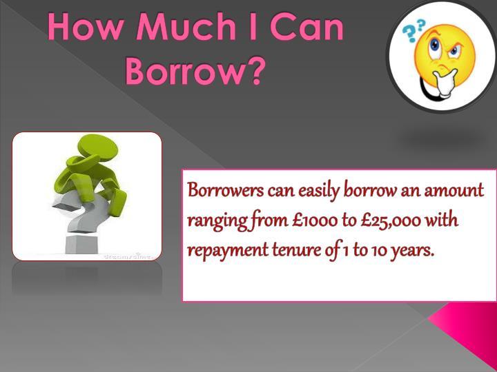 How Much I Can Borrow?