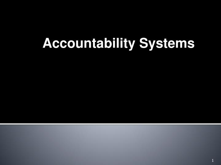 Accountability Systems