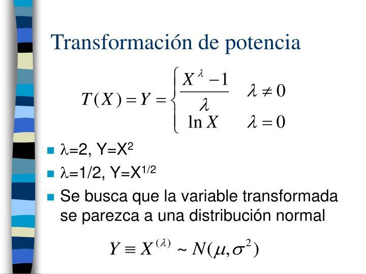 Transformación de potencia