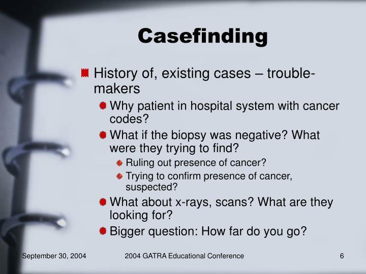 Casefinding