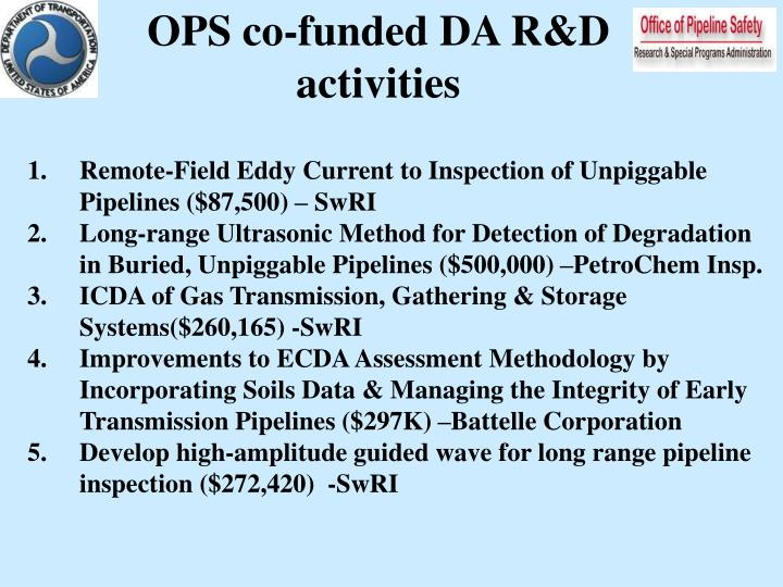 OPS co-funded DA R&D
