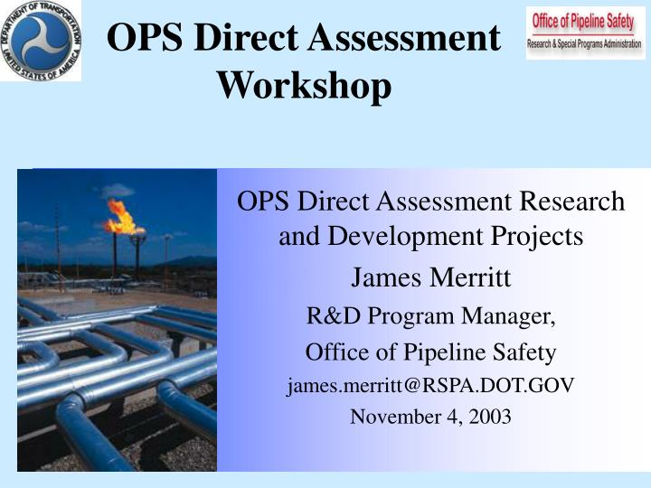 OPS Direct Assessment Workshop