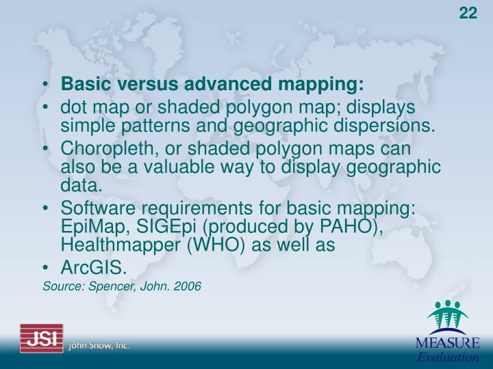 Basic versus advanced mapping: