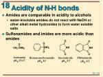 acidity of n h bonds