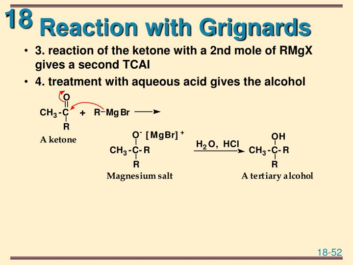 Reaction with Grignards