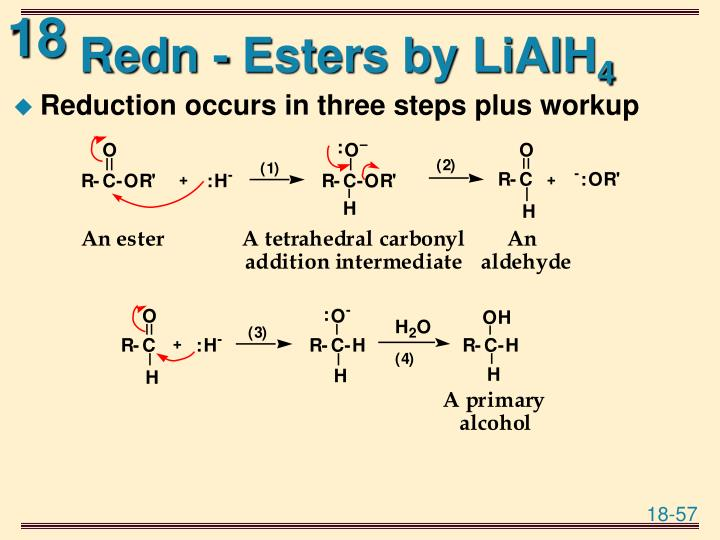 Redn - Esters by LiAlH
