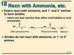 rexn with ammonia etc2