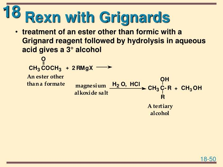Rexn with Grignards