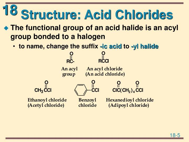 Structure: Acid Chlorides