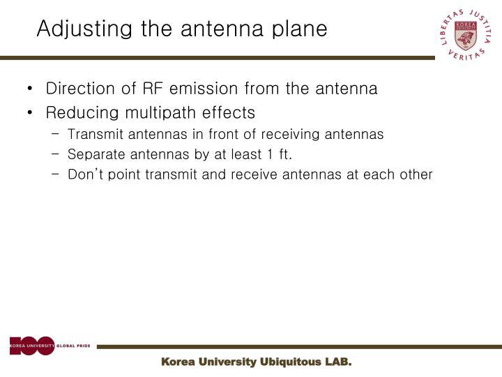 Adjusting the antenna plane