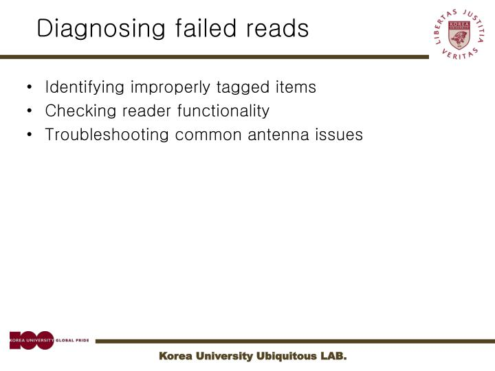 Diagnosing failed reads