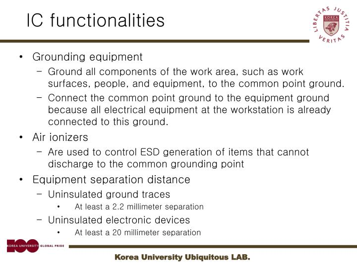 IC functionalities