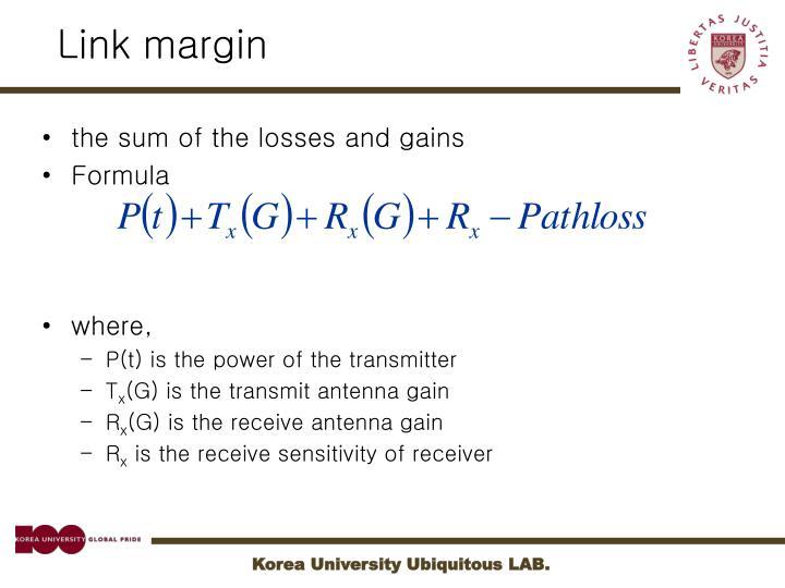 Link margin