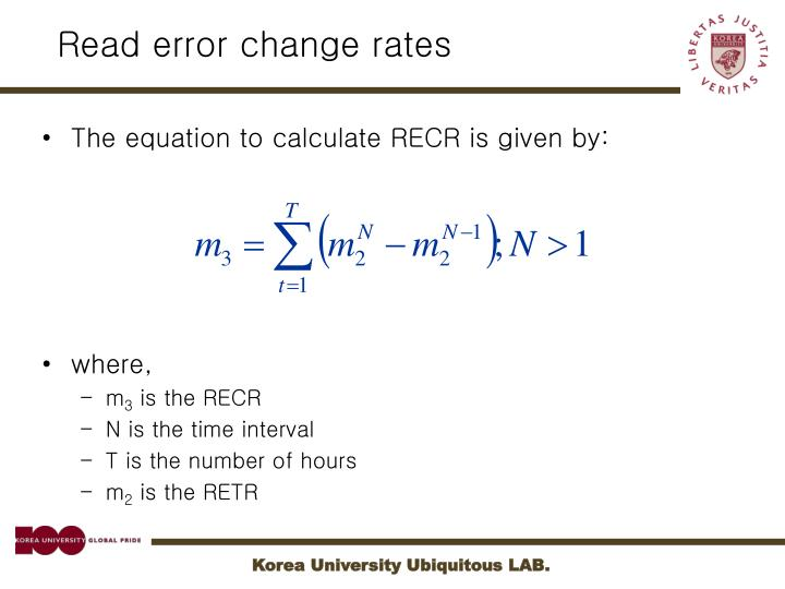 Read error change rates