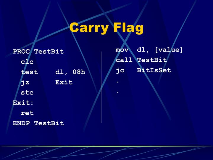 Carry Flag