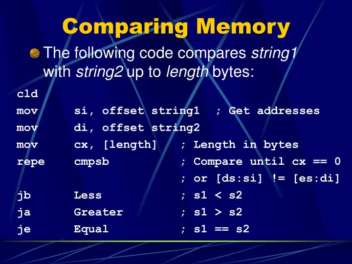 Comparing Memory