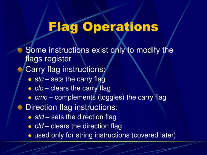 Flag Operations