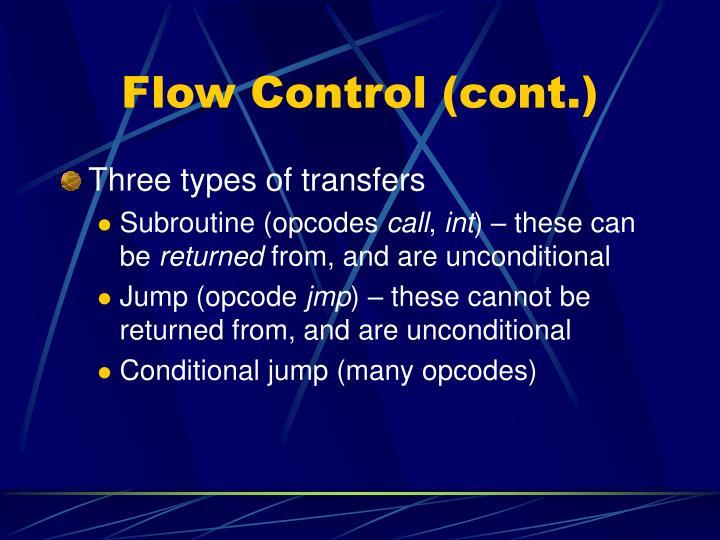 Flow Control (cont.)