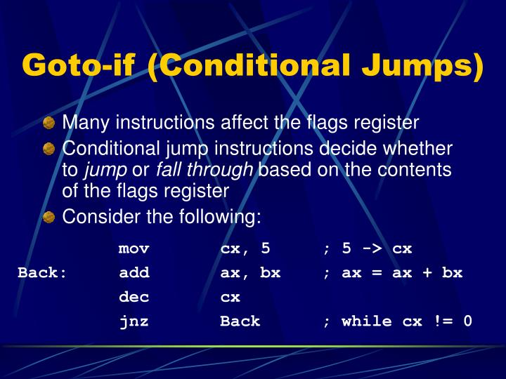 Goto-if (Conditional Jumps)