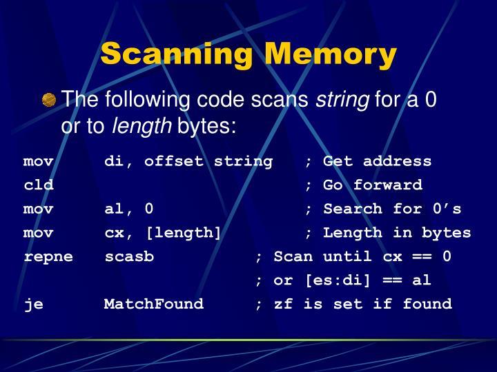 Scanning Memory