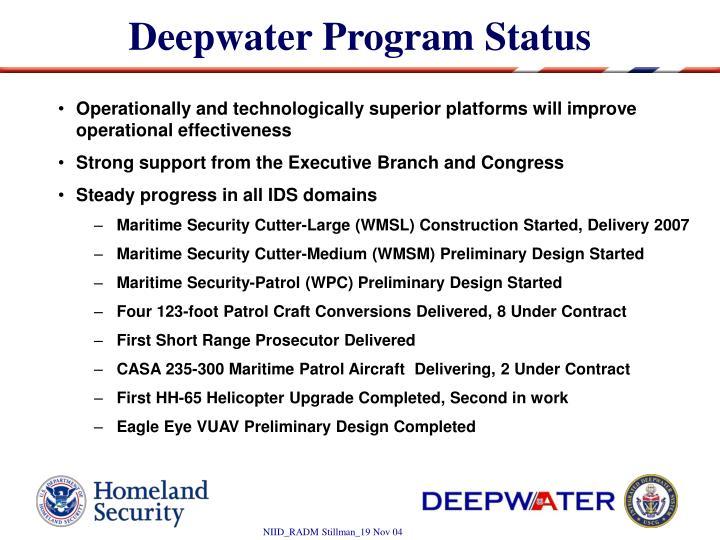 Deepwater Program Status