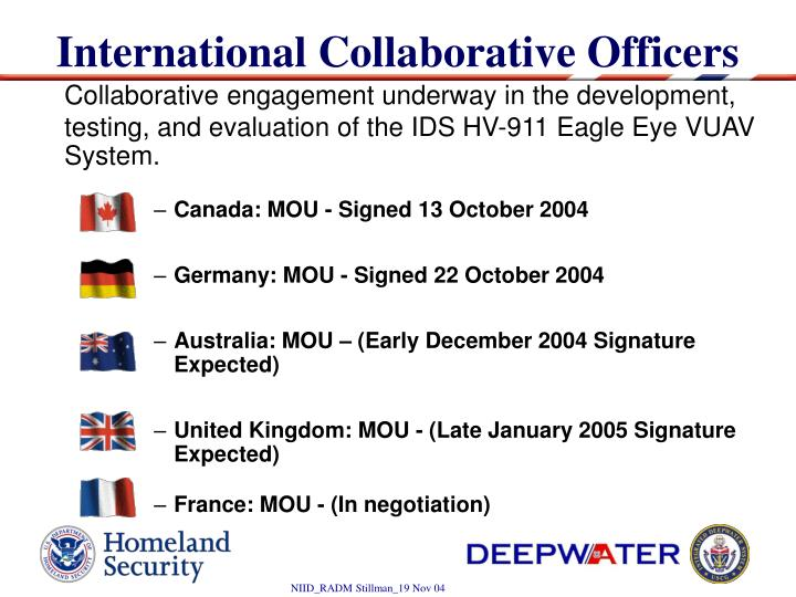 International Collaborative Officers