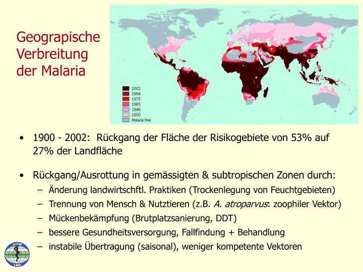 Geograpische Verbreitung